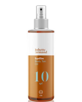 Λάδι αντιηλιακής προστασίας για όλους τους τύπους δέρματος. Juliette Armand Body Tan Oil SPF 10, Juliette Armand