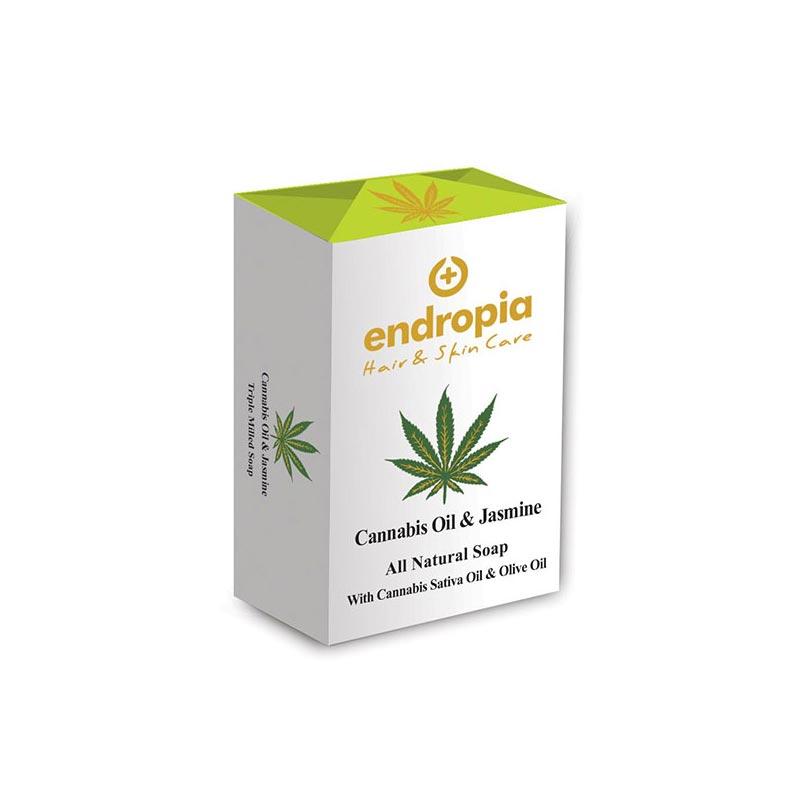 Φυσικό σαπούνι με έλαιο κάνναβης και γιασεμί. Δεν δοκιμάζεται σε ζώα. Cannabis Oil Soap με γιασεμί, Endropia