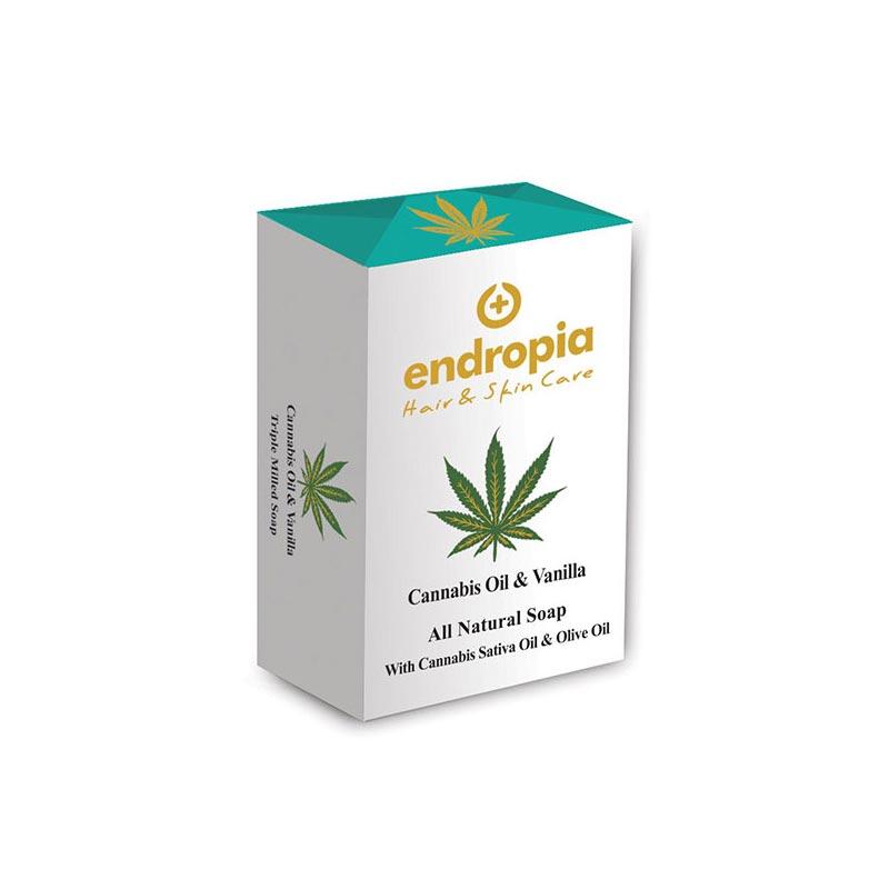 Φυσικό σαπούνι με έλαιο κάνναβης και βανίλια Δεν δοκιμάζεται σε ζώα. Cannabis Oil Soap με Βανίλια, Endropia
