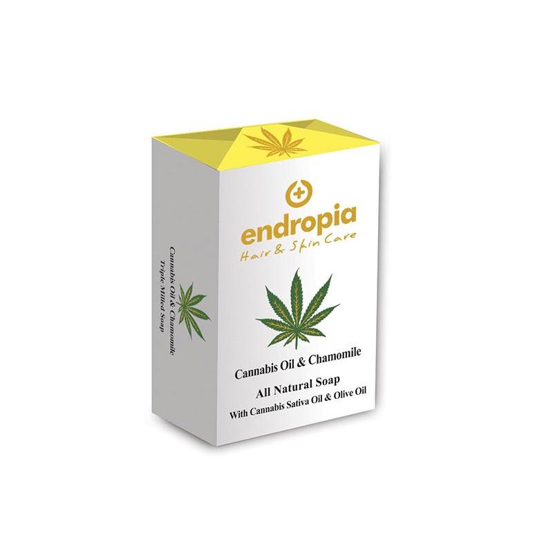 Φυσικό σαπούνι με έλαιο κάνναβης και χαμομήλι. Δεν δοκιμάζεται σε ζώα. Cannabis Oil Soap με Χαμομήλι, Endropia