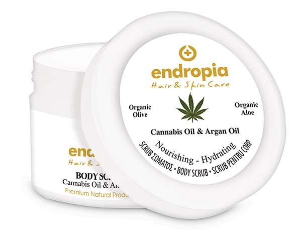 Scrub σώματος με κανναβέλαιο και argan. Body Scrub Cannabis Oil & Argan, Endropia