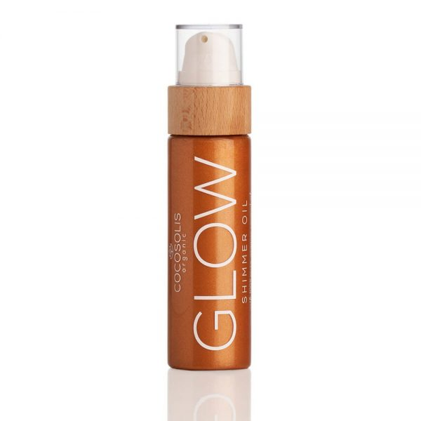 Λάδι μαυρίσματος σώματος 'Glow', Cocosolis Organic (Ιριδίζον)