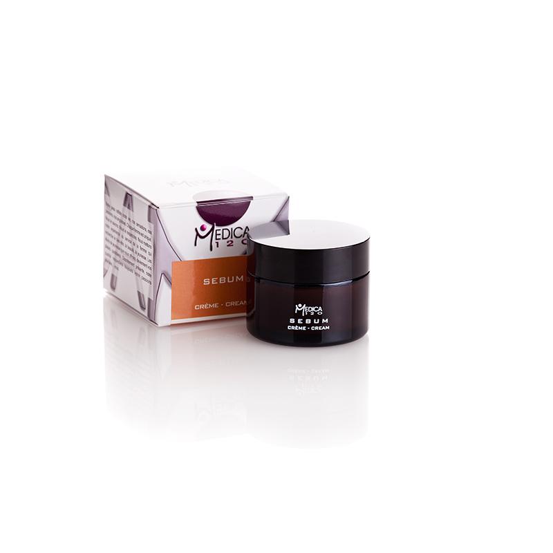 Εξειδικευμένη κρέμα με αντιμικροβιακούς παράγοντες και βιταμίνες για ακνεϊκά δέρματα. Sebum creme, Medica120