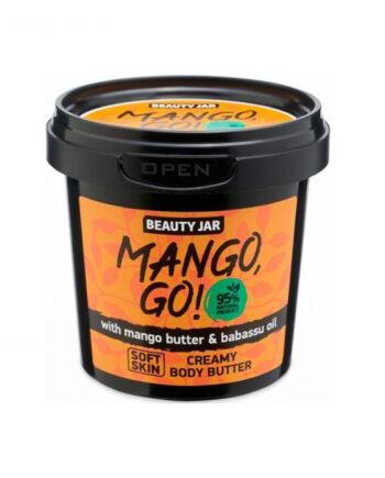 """Κρεμώδες βούτυρο σώματος με βούτυρο Μανγκο και έλαιο Babasu.""""Mango, Go!"""", Beauty Jar"""