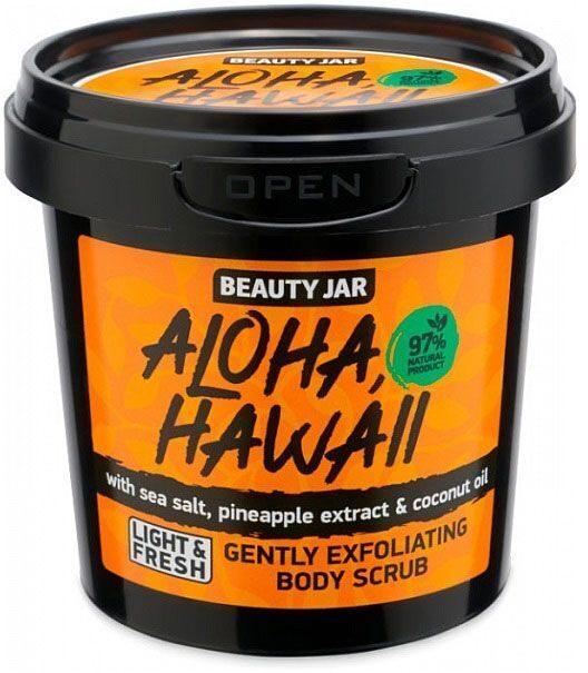 """Αναζωογονητικό scrub προσώπου και σώματος. """"Aloha Hawaii"""", Beauty Jar"""