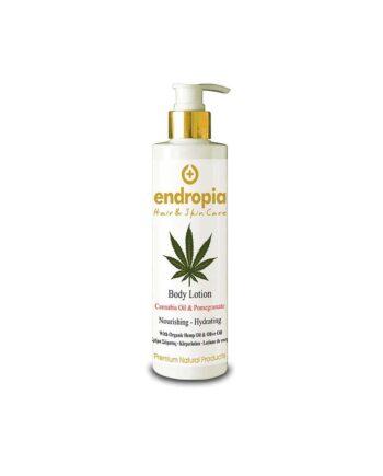 Λοσιόν σώματος με εκχύλισμα ελαίου κάνναβης και ροδιού. Δεν δοκιμάζεται σε ζώα. Cannabis Oil & Pomegranate Body Lotion, Endropia