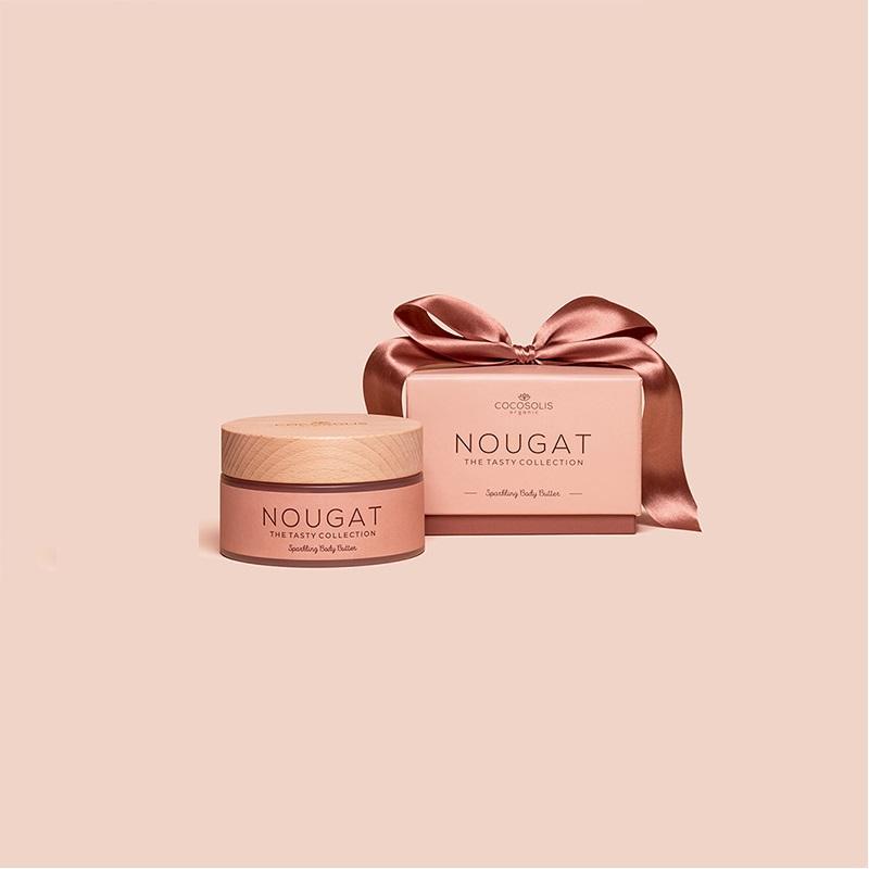 Bούτυρο σώματος & προσώπου σε μορφή μους 'Nougat', Cocosolis Organic (ιριδίζον)