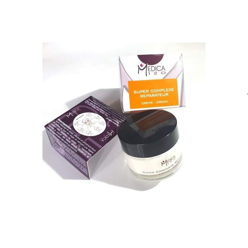 Υπεραναπλαστική 24ωρη κρέμα απαλής υφής για ώριμα ή ταλαιπωρημένα δέρματα. Creme super complexe reparateur, Medica120