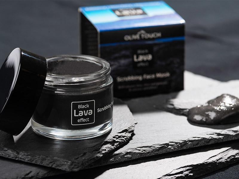 Μάσκα & Scrub Προσώπου με Ηφαιστειακή Λάβα, Olive Touch