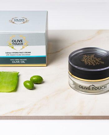 Κρέμα προσώπου 24h Hydra, Olive Touch