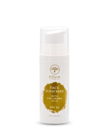 Αντηλιακή Κρέμα Προσώπου με Υαλουρονικό SPF 50, Eolia Cosmetics
