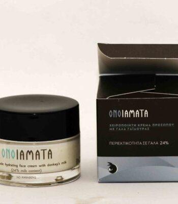 Χειροποίητη κρέμα ματιών με 24% γάλα γαϊδούρας, βιταμίνη Ε και φυτικό κολλαγόνο, Οnoiamata