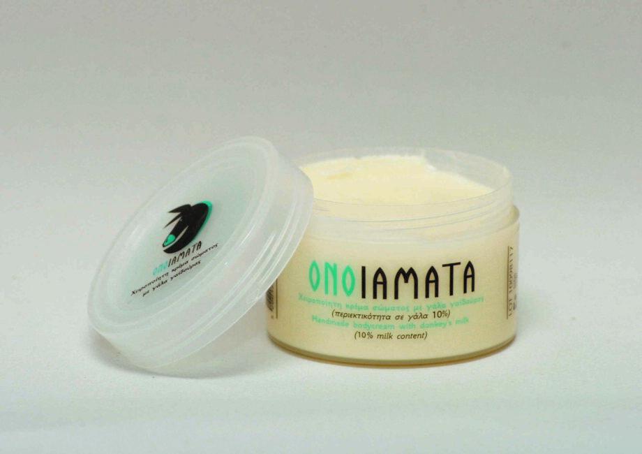 Χειροποίητη κρέμα σώματος με 10% γάλα γαϊδούρας & βούτυρο καριτέ Onoiamata