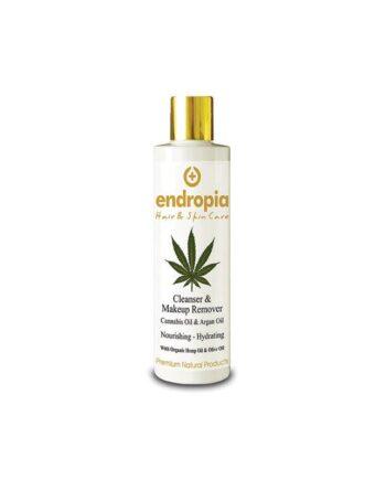 Λάδι ντεμακιγιάζ προσώπου με έλαιο κάνναβης και argan oil. Δεν δοκιμάζεται σε ζώα. Cannabis Oil & Argan Oil Cleanser Make Up Remover, Endropia