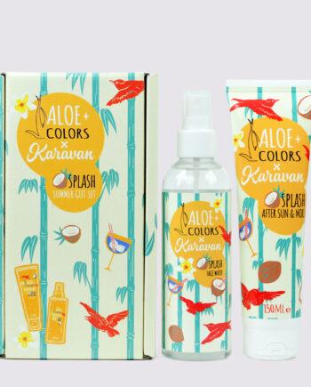 Το Summer box splash περιλαμβάνει After sun 150ml και Face water 200ml με υπέροχο άρωμα καρύδας και monoi. Karavan Splash Summer Box, Aloe+Colors