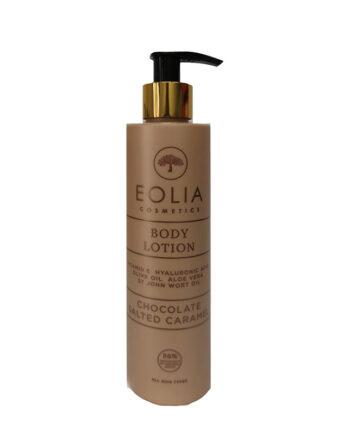 Λοσιόν Σώματος με υαλουρονικό 'Chocolate Salted Caramel', Eolia Cosmetics. Με άρωμα σοκολάτας και αλατισμένης καραμέλας