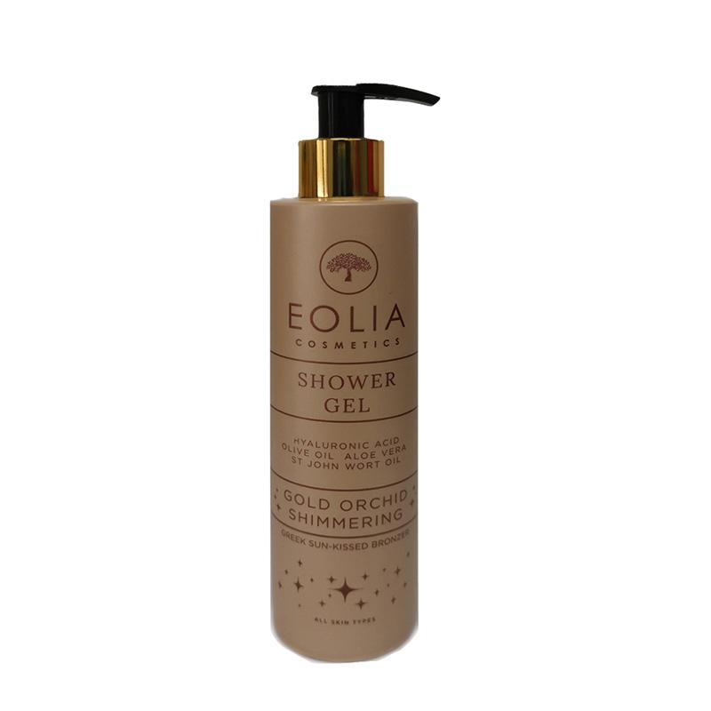 Αφρόλουτρο 'Gold Orchid Shimmer', Eolia Cosmetics. Με άρωμα χρυσή ορχιδέα και shimmer