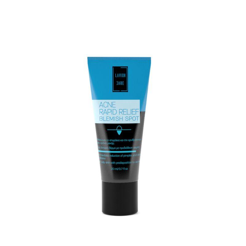 Acne Rapid Relief Blemish Spot- gel ταχείας δράσης για τοπική εφαρμογή στα σπυράκια ενός λιπαρού δέρματος ή δέρματος με τάση για ακμή. Lavish Care