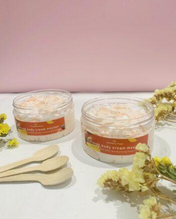 Kρέμα για όλο το σώμα με μοναδικό άρωμα εξωτικού μάνγκο. Body Cream Mousse Mango – Harmony Muse