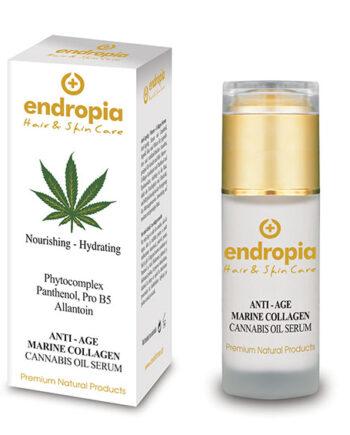 Ορός αντιγήρανσης με θαλάσσιο κολλαγόνο. Face Serum Anti-Age Cannabis Oil – Marine Collagen