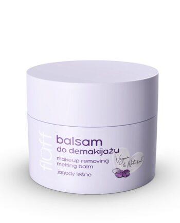 Βούτυρο αφαίρεσης μακιγιάζ με άρωμα μύρτιλο. Κατάλληλο και για αδιάβροχο make-up. Fluff Make Up Removing Balm Wild Berries