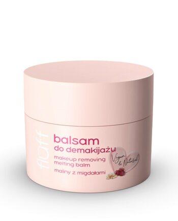 Βούτυρο αφαίρεσης μακιγιάζ με άρωμα αμύγδαλο με raspberry. Κατάλληλο και για αφαίρεση αδιάβροχου make-up. Fluff Make Up Removing Balm Raspberries with Almonds