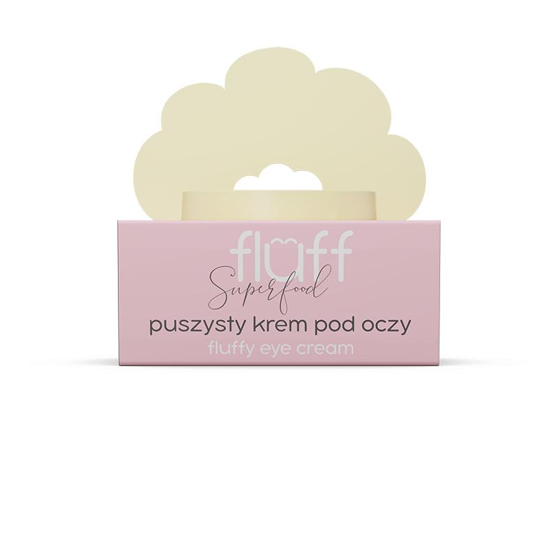 """Eνυδατική κρέμα ματιών, χρησιμοποιείται για καταπολέμηση μαύρων κύκλων, λεπτών γραμμών και """"σακούλων"""". Fluff Fluffy Eye Cream"""