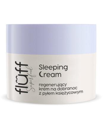 Eνυδατική κρέμα νυχτός που προστατεύει από το μπλε φωτισμό που εκπέμπουν οι συσκευές το βράδυ. Fluff Moonmilk Sleeping Cream
