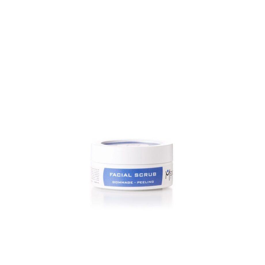 Δραστικό απολεπιστικό (peeling), περιέχει κόκκους ελιάς και αμυγδάλου που σαπωνοποιείται για κανονικά και λιπαρά δέρματα Facial Scrub Medica120