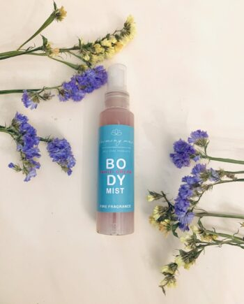 Body mist με μυρωδιά εξωτικού λουλουδιού Tiare και βανίλια Μαδαγασκάρης. Body Mist Tahiti Dream – Harmony Muse