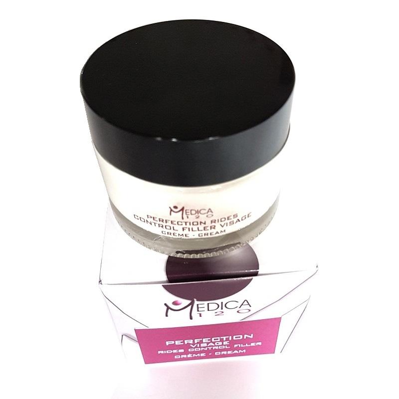 24ωρη ισχυρή κρέμα προώπου και λαιμού βασισμένη στο πολυδραστικό μόριο Neodermyl® micro filler για τον έλεγχο των ρυτίδων. Crème Perfection Rides Control Filler - Medica120